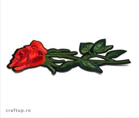 Aplicații termoadezive - trandafir mare - PTW15 - craftup.ro