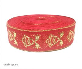 Bandă decorativă Cristina 25mm - roșu