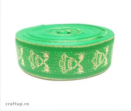 Bandă decorativă Cristina 25mm - verde