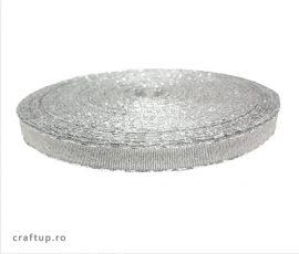 Bandă decorativă Evelina 10mm - Argintiu