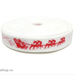 Bandă decorativă -Tafina 15mm- Moș Crăciun