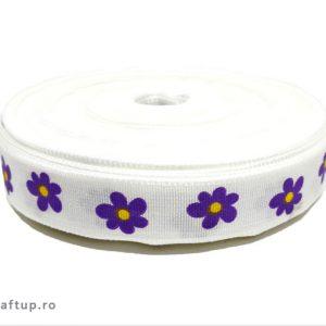 Bandă decorativă -Tafina 15mm- Flori mov