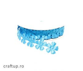 Aplicații decorative cu flori - bleu - craftup.ro