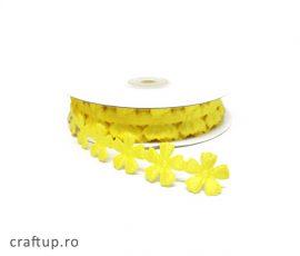 Aplicații decorative cu flori - galben - craftup.ro