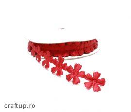 Aplicații decorative cu flori - roșu - craftup.ro