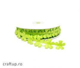 Aplicații decorative cu flori - verde - craftup.ro