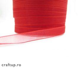 Bandă organza 1cm - roșu - 2 - craftup.ro