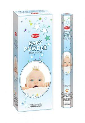 Bețișoare parfumate HEM - BABY POWDER - craftup.ro
