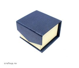 Cutie bijuterii mica cu clapeta pentru inel sau cercei - albastru - 1 - craftup.ro