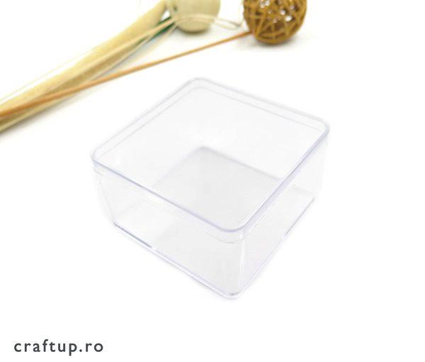 Cutie transparentă dreptunghiulară 2 - craftup.ro
