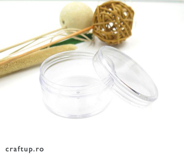Cutie transparentă rotundă 1 - craftup.ro