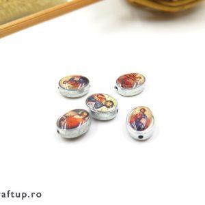 Distanțiere metal ovale cu imagini religioase - craftup.ro