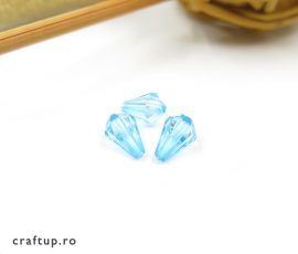 Mărgele lacrimă fațetate - bleu - craftup.ro