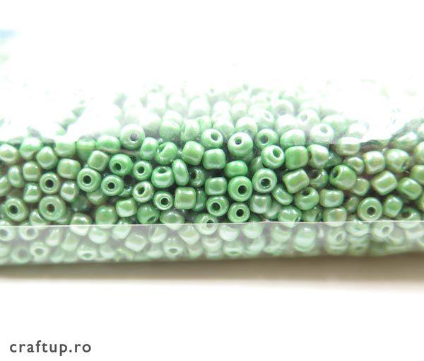 Mărgele nisip lucioase opace - verde - craftup.ro