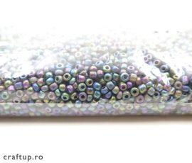 Mărgele nisip metalizate opace - verde - craftup.ro
