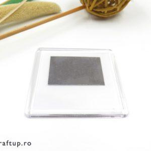 Magnet frigider pătrat (blank) 6,5cm - craftup.ro