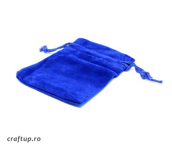 Săculeți catifea dreptunghiulari - albastru - craftup.ro