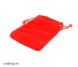 Săculeți catifea dreptunghiulari - roșu - craftup.ro