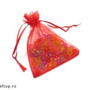 Săculeți organza dreptunghiulari - roșu - craftup.ro