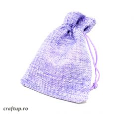 Săculeți textil dreptunghiulari - mov - plin - craftup.ro