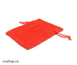 Săculeți textil dreptunghiulari - roșu - craftup.ro